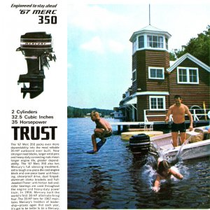 1967 Mercury Outboard Brochure Page 10
