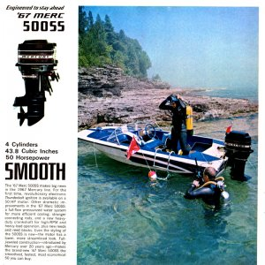 1967 Mercury Outboard Brochure Page 9